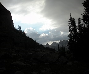 Caption: Eyeing the Pass, Credit: Charlie Warren - while backpacking the Wind River Range in Wyoming's Rocky Mountains