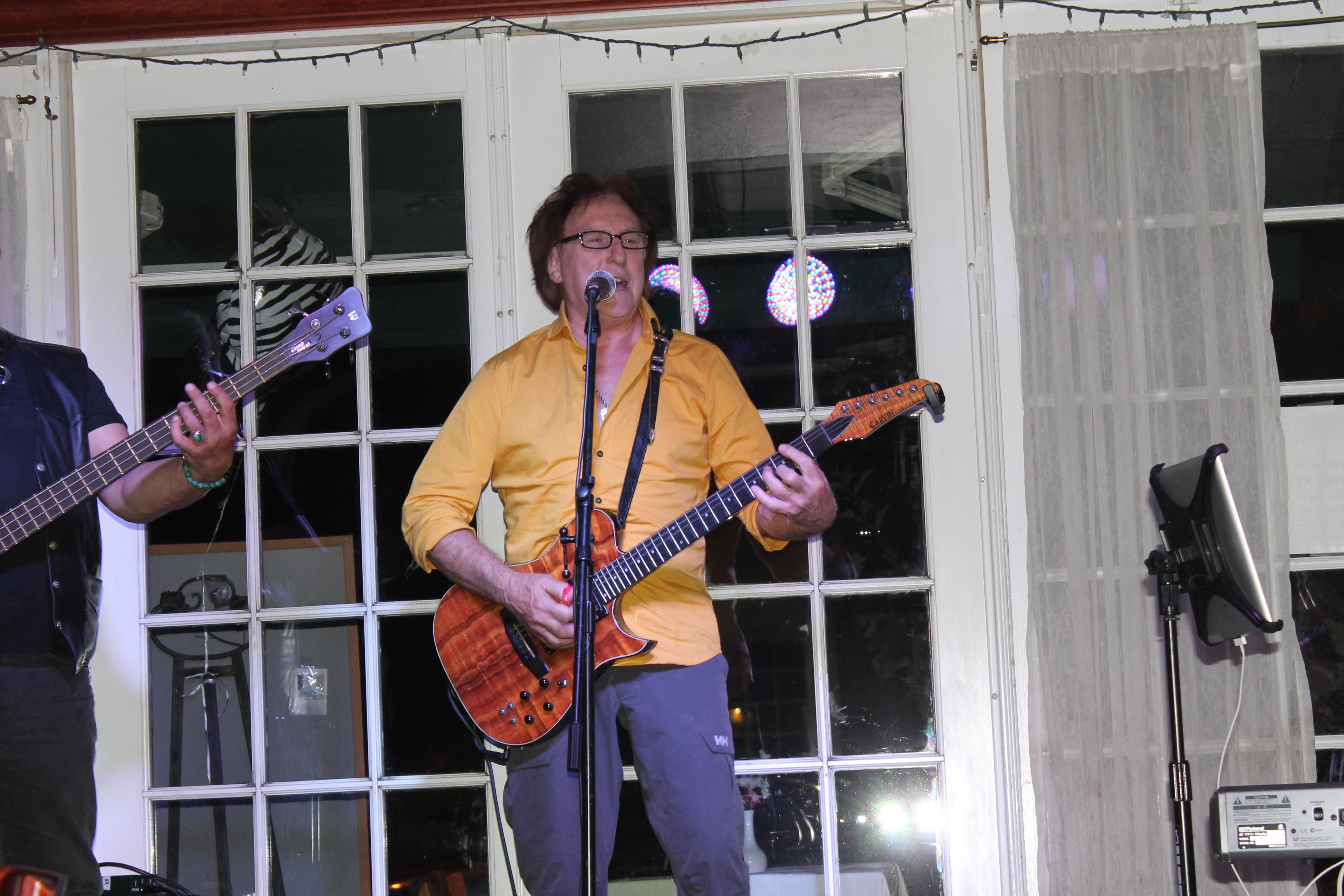 Caption: Denny Laine in concert , Credit: Richard Solomon