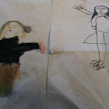 Caption: Children's art is an eyeglass into their view. , Credit: Susan Cook