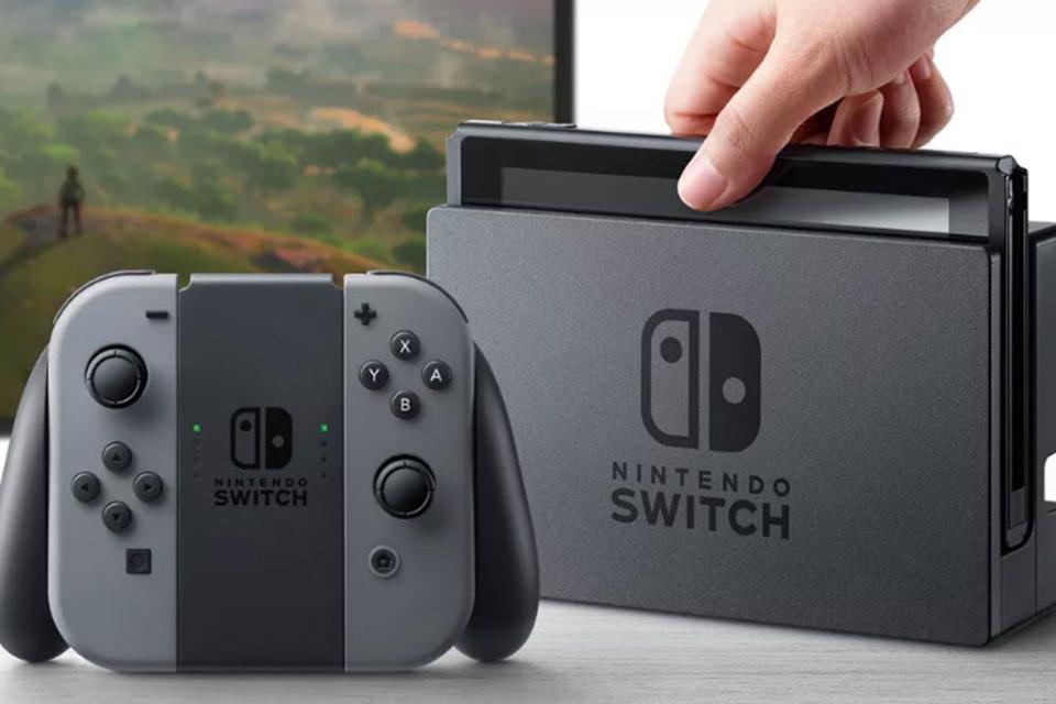 Caption: The Nintendo Switch , Credit: Nintendo