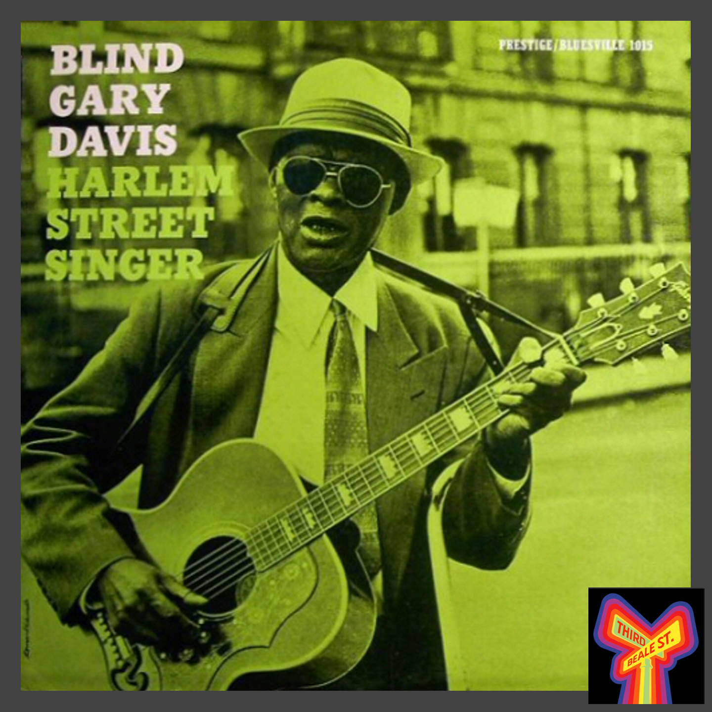 Caption: One of the distinctive album covers from the Bluesville label.
