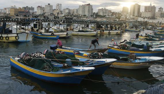 Caption: Gaza seaport, Credit: REUTERS/Mohammed Salem