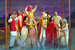 Caption: The ensemble cast of Monsoon Wedding, Credit: Photo courtesy Kevin Berne/Berkeley Repertory Theatre