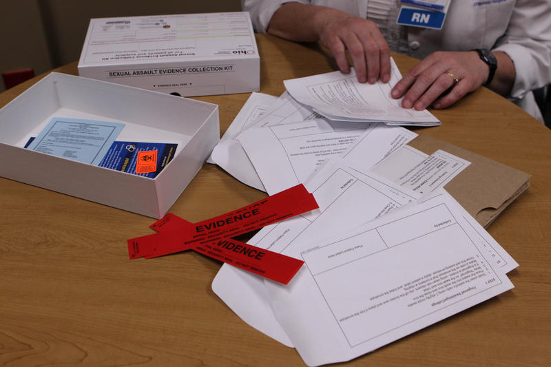 Caption: A rape kit (pictured) is used to collect evidence after a sexual assault. How well the kit is completed matters in a prosecution., Credit: Esther Honig/Side Effects Public Media
