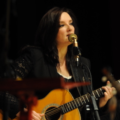 Caption: Brandy Clark on the WoodSongs Stage.
