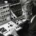 Caption: Don with the little Putney synthesizer, 1970, Credit: UW-Madison Archives