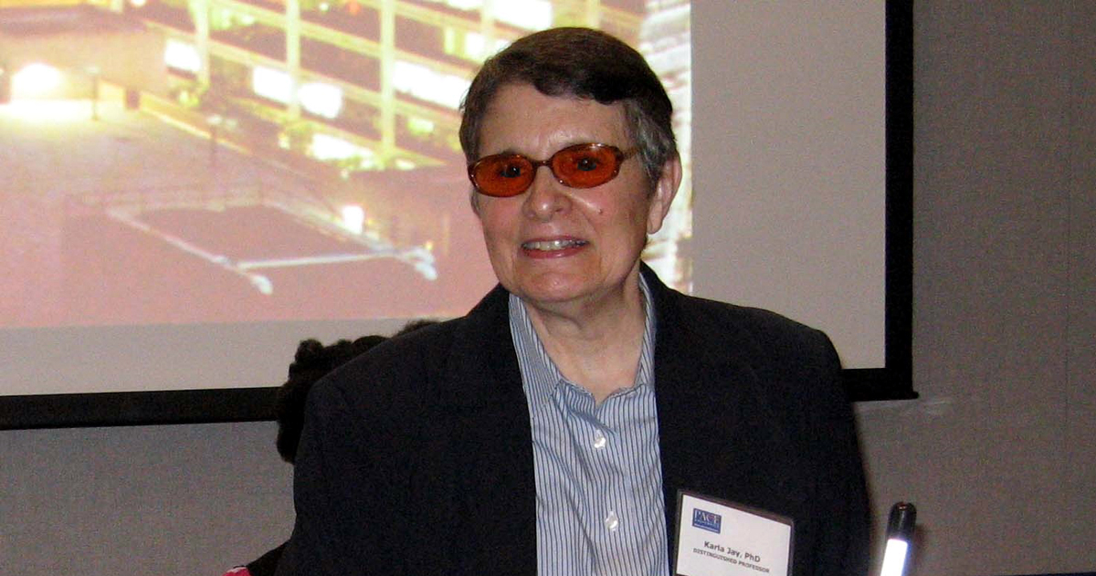 Caption: Professor Karla Jay, Ph.D.