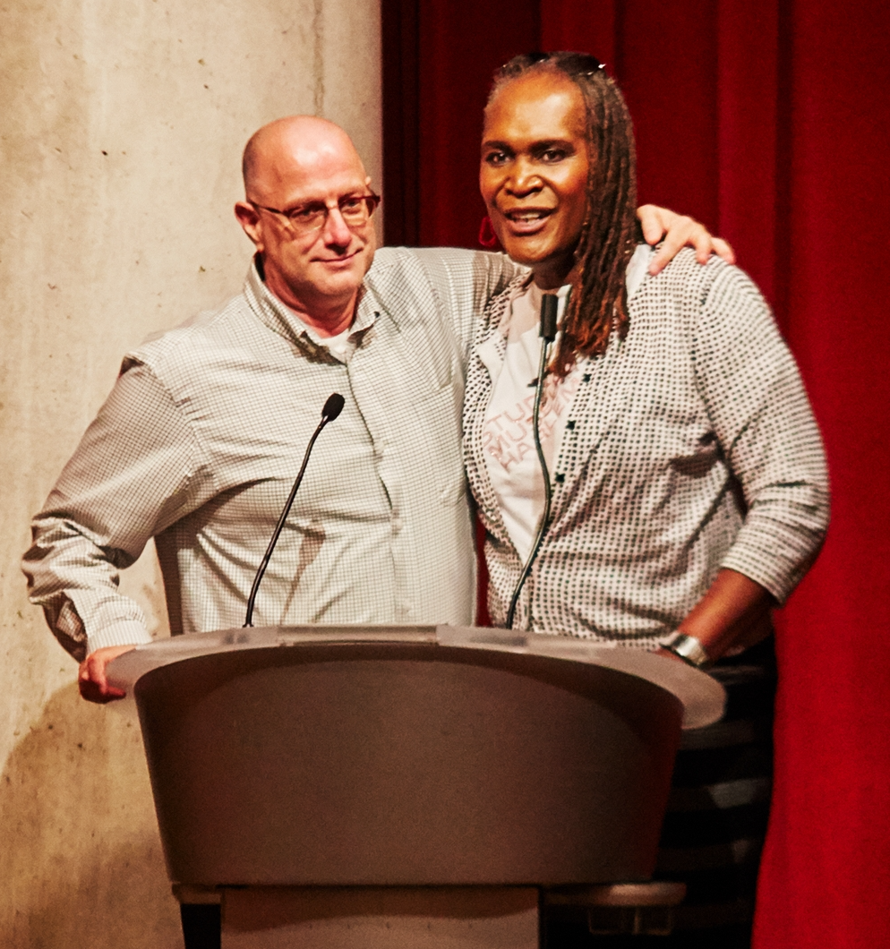 Caption: John Medeiros and Andrea Jenkins, co-curators of the series. , Credit: Uche Iroegbu
