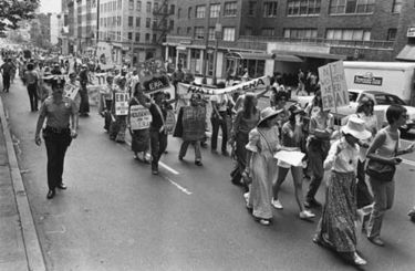 Caption: March to Support the Equal Rights Amendment, New York City, 1976., Credit:  Diana Mara Henry