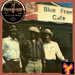 """Caption: Pictured (from left to right): Jacob Stuckey, Jimmy """"Duck"""" Holmes, and Tommy Lee West, in front of Bentonia's legendary Blue Front Cafe. Photo courtesy of Jimmy """"Duck"""" Holmes. Inset: One of the recordings Skip James made for Paramount in 1931."""