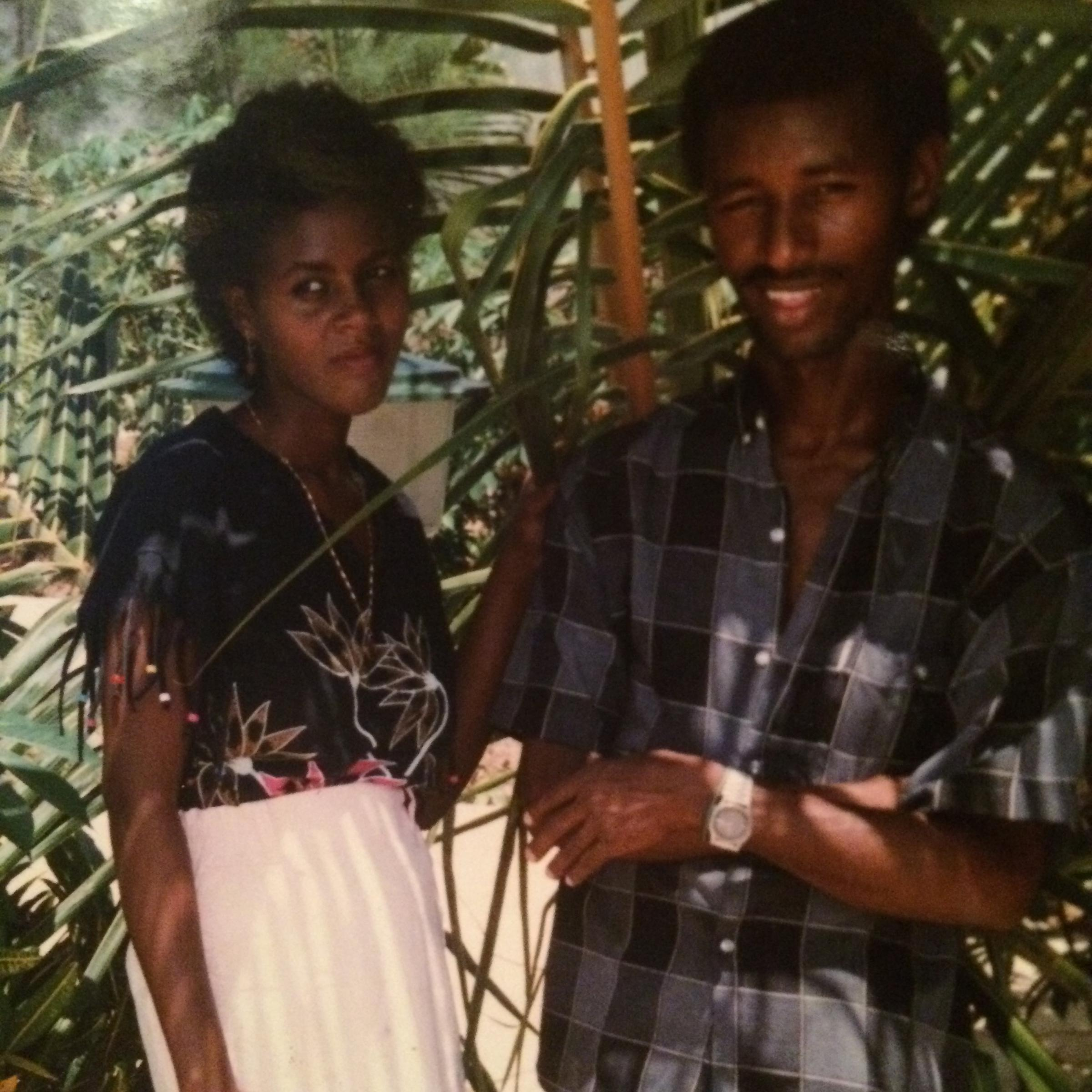 Caption: The author's parents, Fetiha Omer and Abdul-Basit Hassan, in Somalia., Credit: Courtesy of Zubeyda Ahmed
