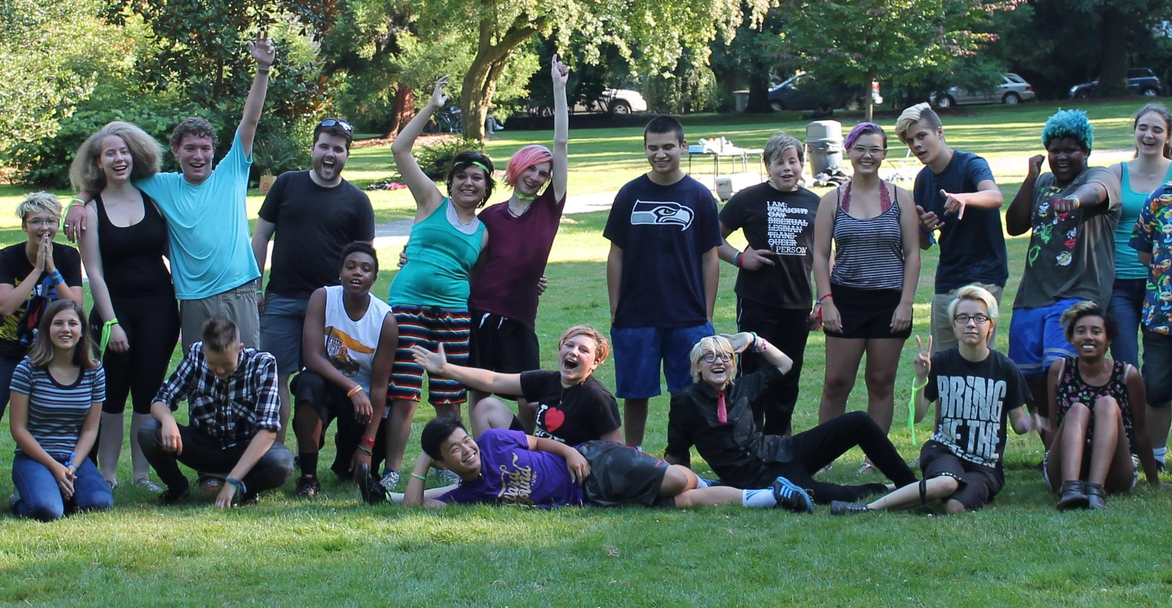 Caption: Lambert House, Summer 2016, just after a water balloon fight., Credit: KUOW PHOTO/AMY STYER
