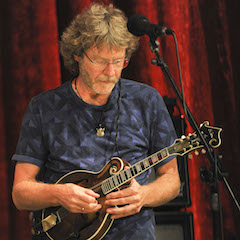 """Caption: The """"Brilliancy"""" of Sam Bush on the WoodSongs Stage."""