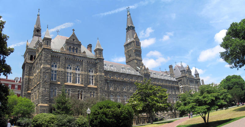 Caption: Healy Hall at Georgetown University, Credit:  Georgetown University