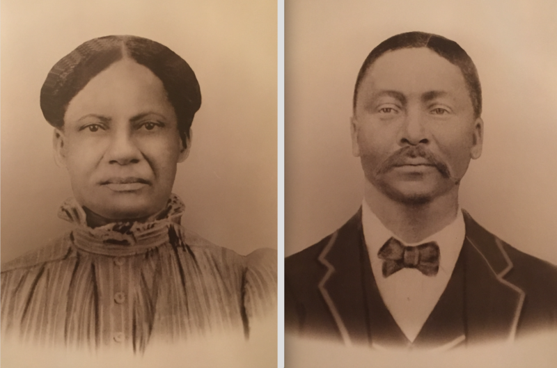 Caption: Wm. & Charity Harris are the great grandparents of Sandra Green Thomas. Wm.'s parents, Betsy Ware & Samuel Harris, were two of the 272 people sold by Georgetown University to two Louisiana plantations in 1838. , Credit:  Sandra Green Thomas