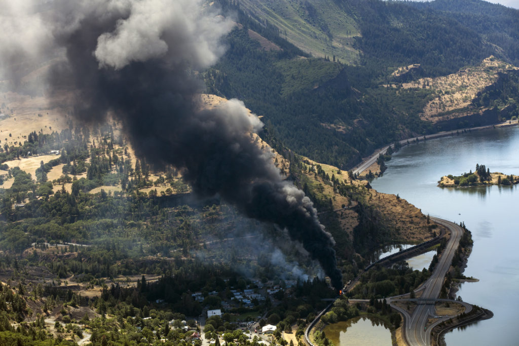 Caption: Mosier Fire , Credit: Image by: Paloma Ayala