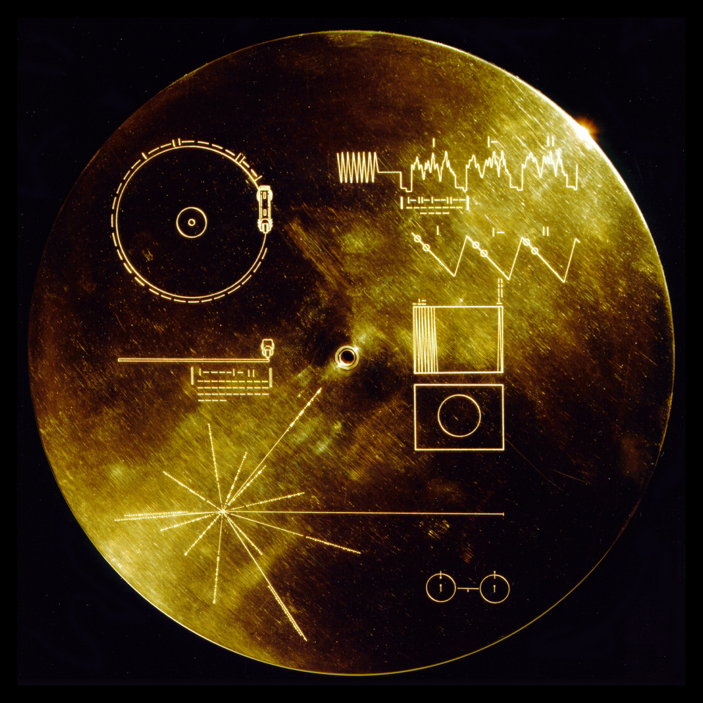 Caption: NASA's Golden Record, Credit: NASA
