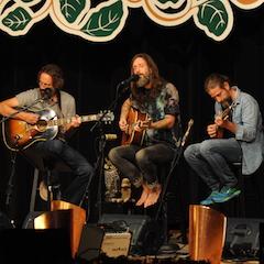 Caption: Chris Robinson Brotherhood on the WoodSongs Stage,