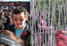 """Caption: Andy Serkis at """"Return of the King"""" premiere +Maori Village performer"""