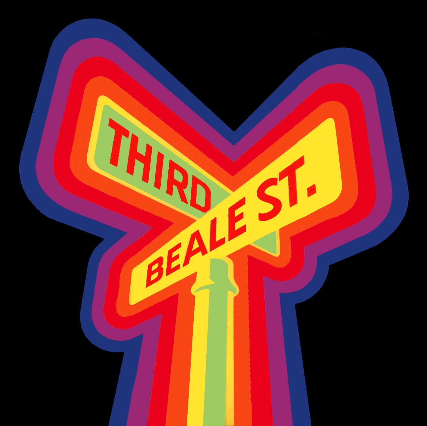 Caption: Our distinctive logo comes from a rare poster for the 1977 Beale Street Music Festival. Collection of the producer.