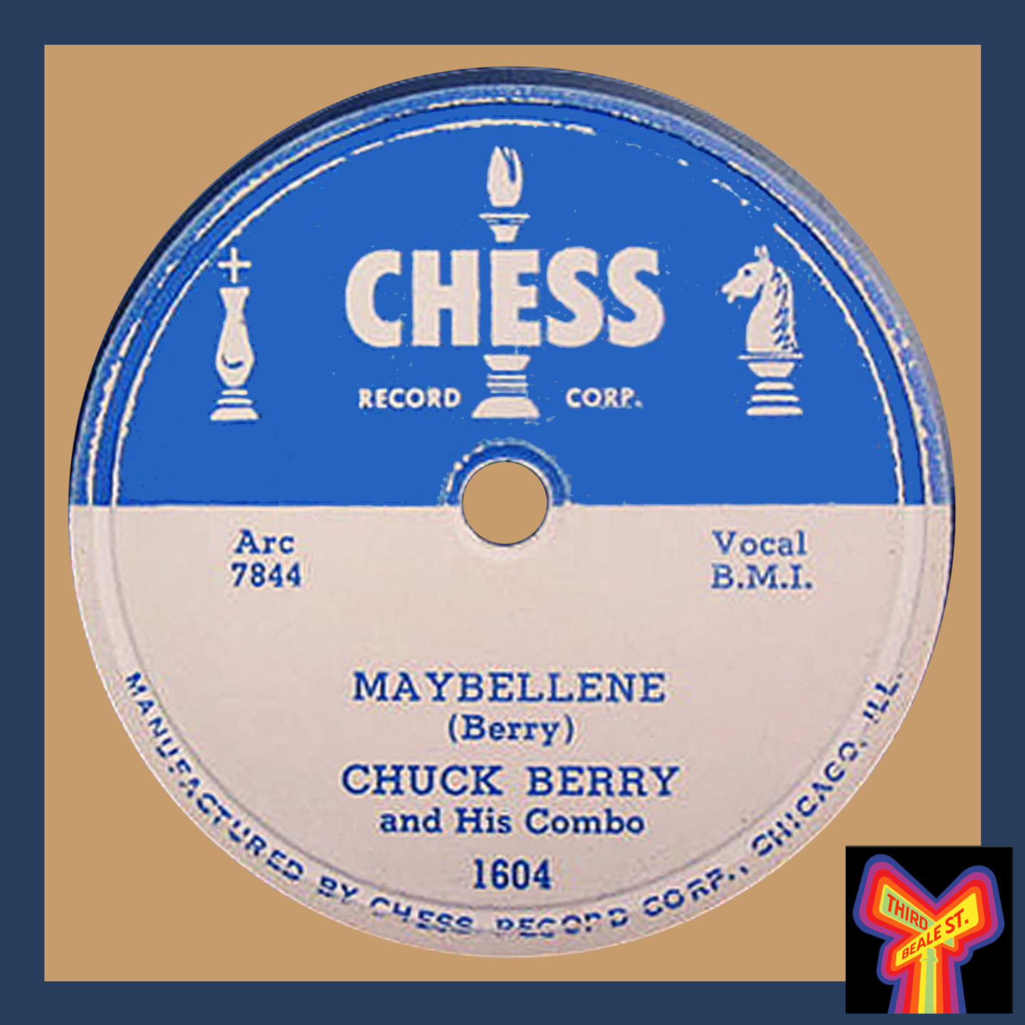 """Caption: Chuck Berry's game-changing piece of wax from 1955, """"Maybellene."""""""