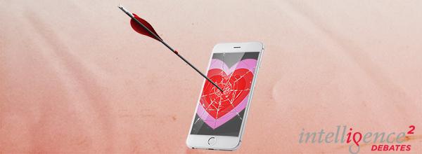 Caption: Have Dating Apps Killed Romance?, Credit: Intelligence Squared U.S.