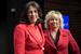 Caption: Christine Pelosi and Debbie Dooley