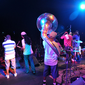 Caption: Rebirth Brass Band