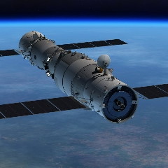 Caption: Artist concept of the Tiangong-1 space station, Credit: CMSA