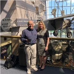 Caption: Mat Kaplan and National Air & Space Museum Director Ellen Stofan, Credit: Mat Kaplan
