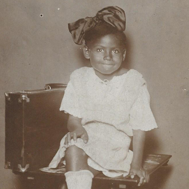 Caption: Olivia Hooker, Age 6 in 1921