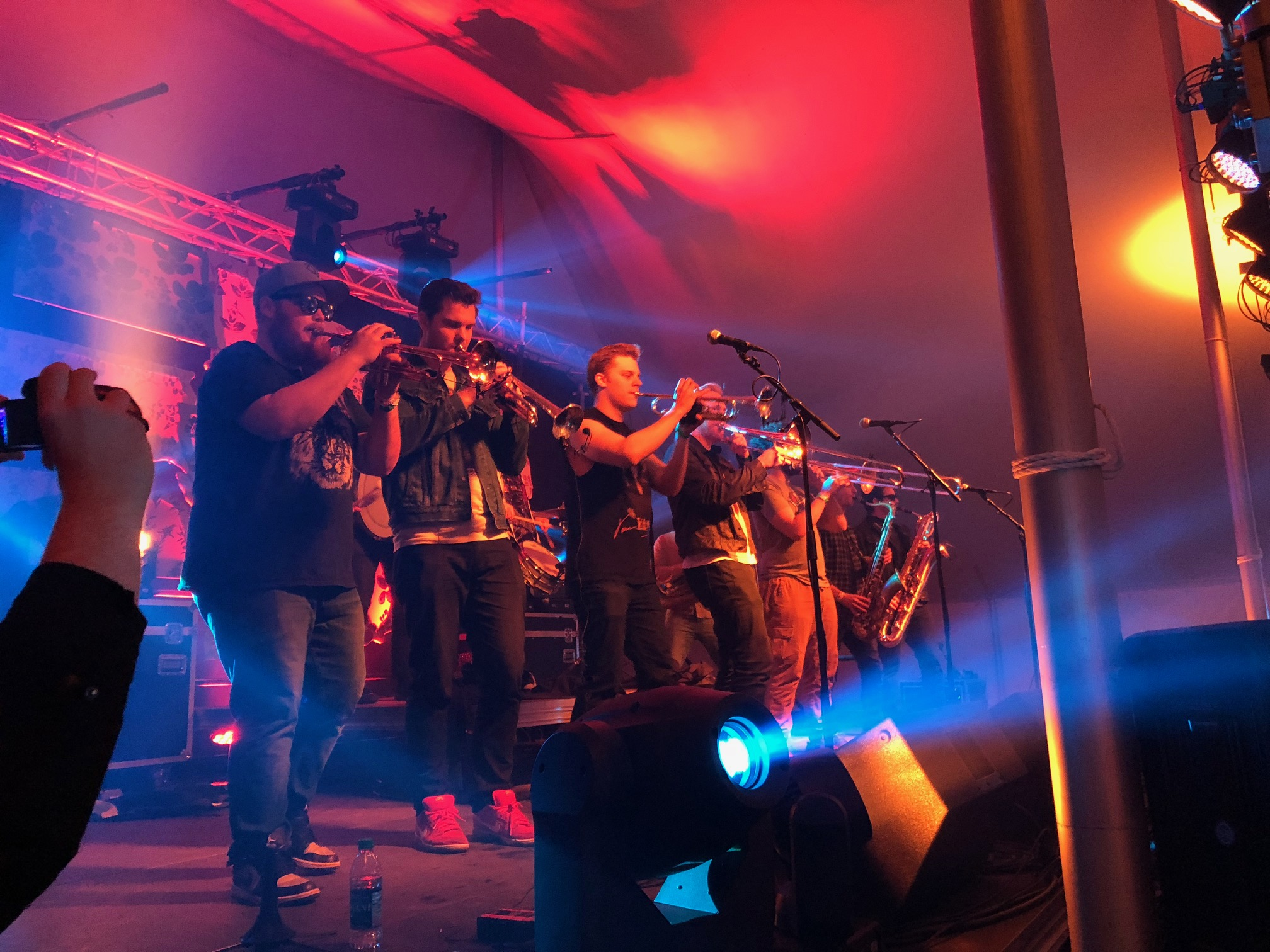 Caption: McNasty Brass Band, Credit: Willard Huyck