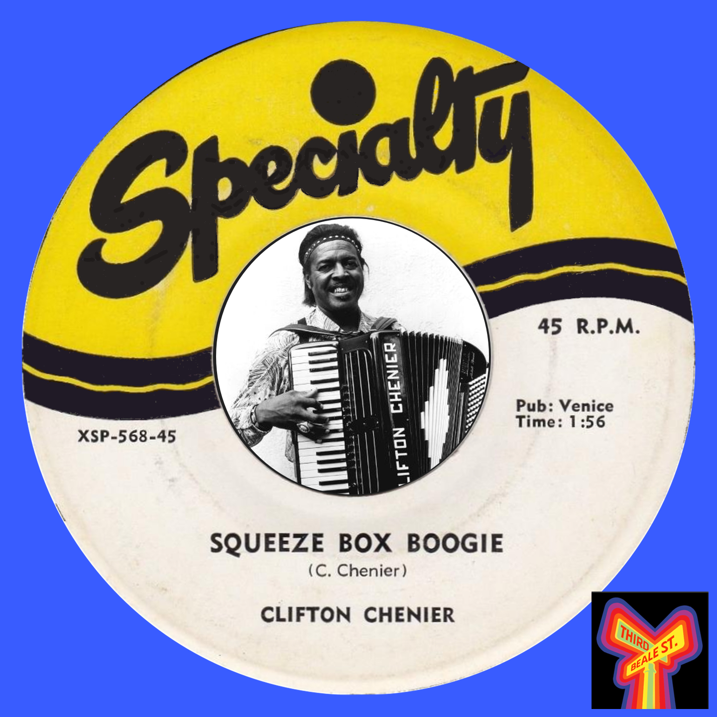 Caption: The King of Zydeco, Clifton Chenier.