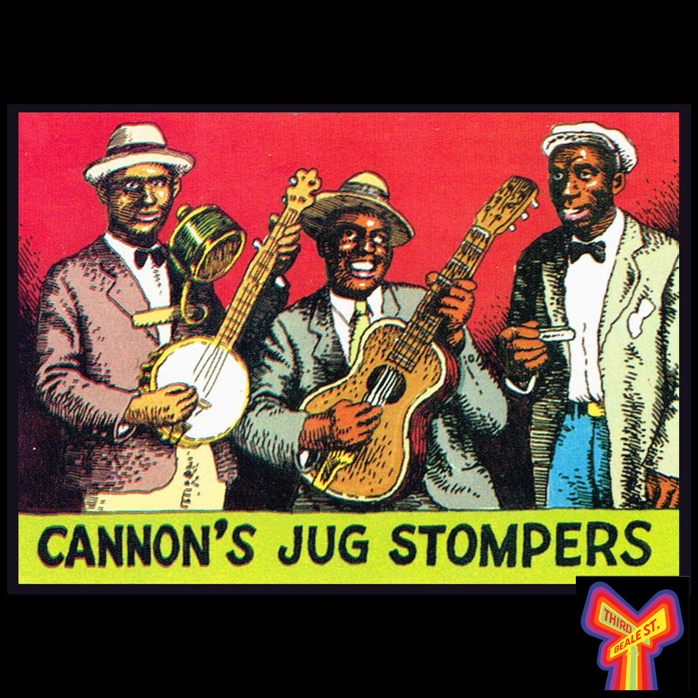 """Caption: After making his recording debut for Paramount in 1927, Gus Cannon teamed up with some old friends and formed """"Cannon's Jug Stompers,"""" who made their first sides as a group for Victor, in early 1928."""