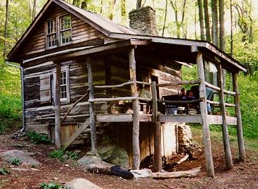 Caption: Jones Mountain cabin.