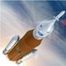 Caption: The Space Launch System leaves Earth in this artist's concept., Credit: NASA