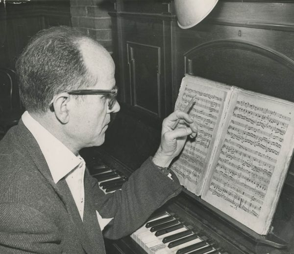 Caption: Composer Xavier Montsalvatge