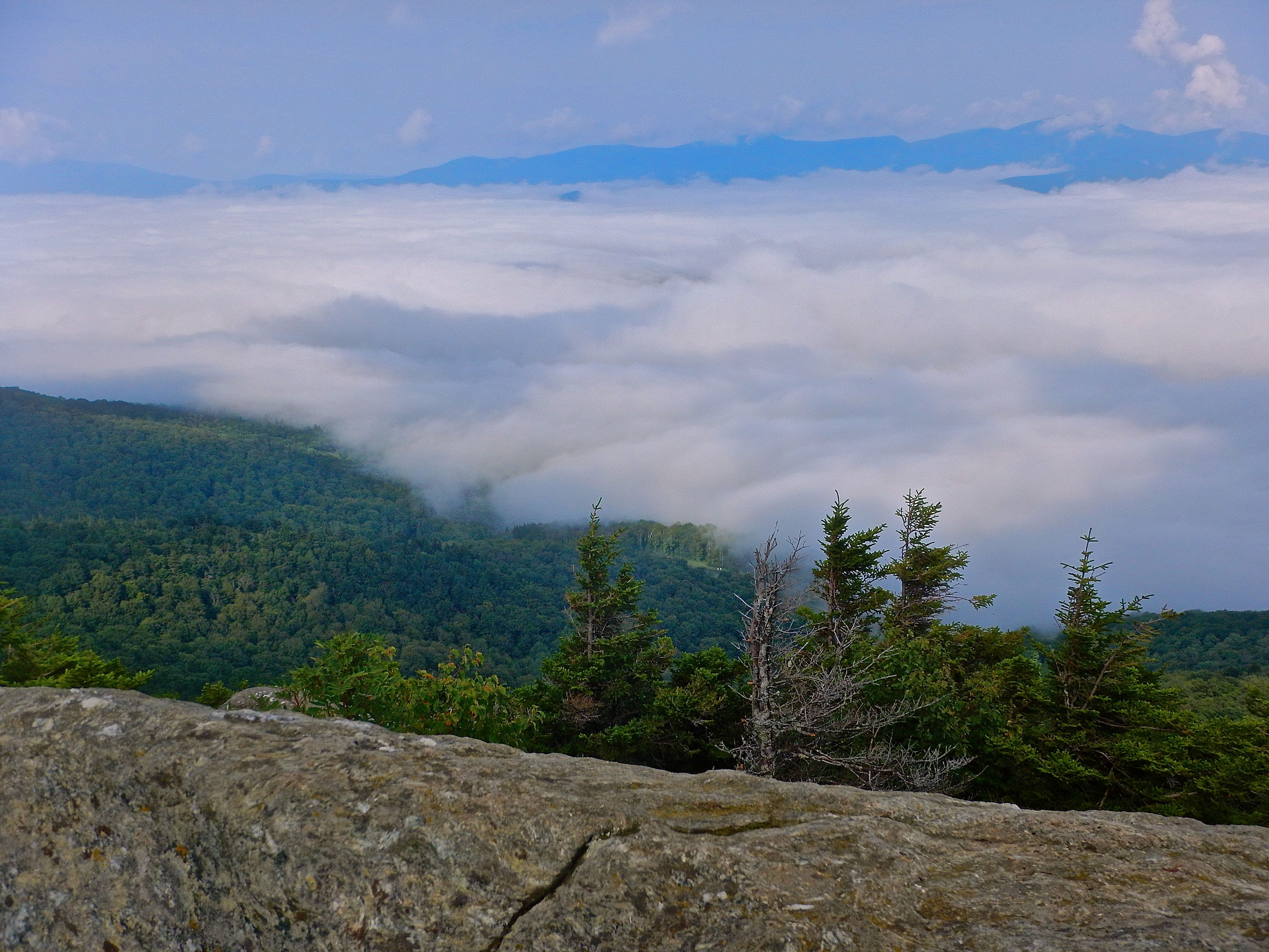 Caption: Undercast From Stowe Pinnacle, Credit: Brian Aust