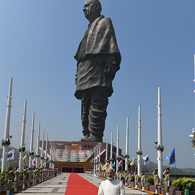 Caption: The Statue of Unity in Gujarat, India, Credit: Sandip Roy