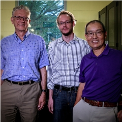 Caption: Ralph Pudritz, an astrophysicist and professor in McMaster's Department of Physics and Astronomy; Maikel Rheinstadter, a biophysicist and professor in McMaster's Department of Physics and Astronomy; and Yingfu Li, a biochemist and professor in McMaster's , Credit: Sarah Janes