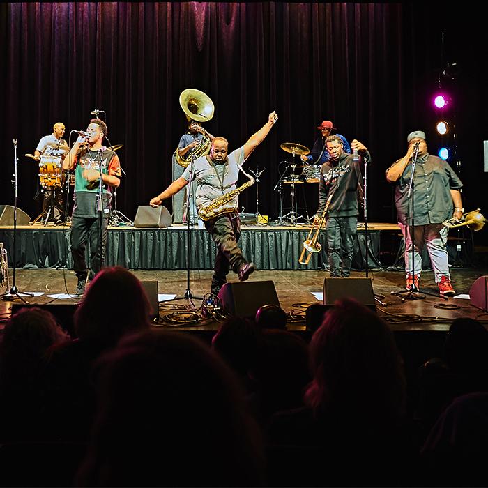 Caption: Soul Rebels Brass Band