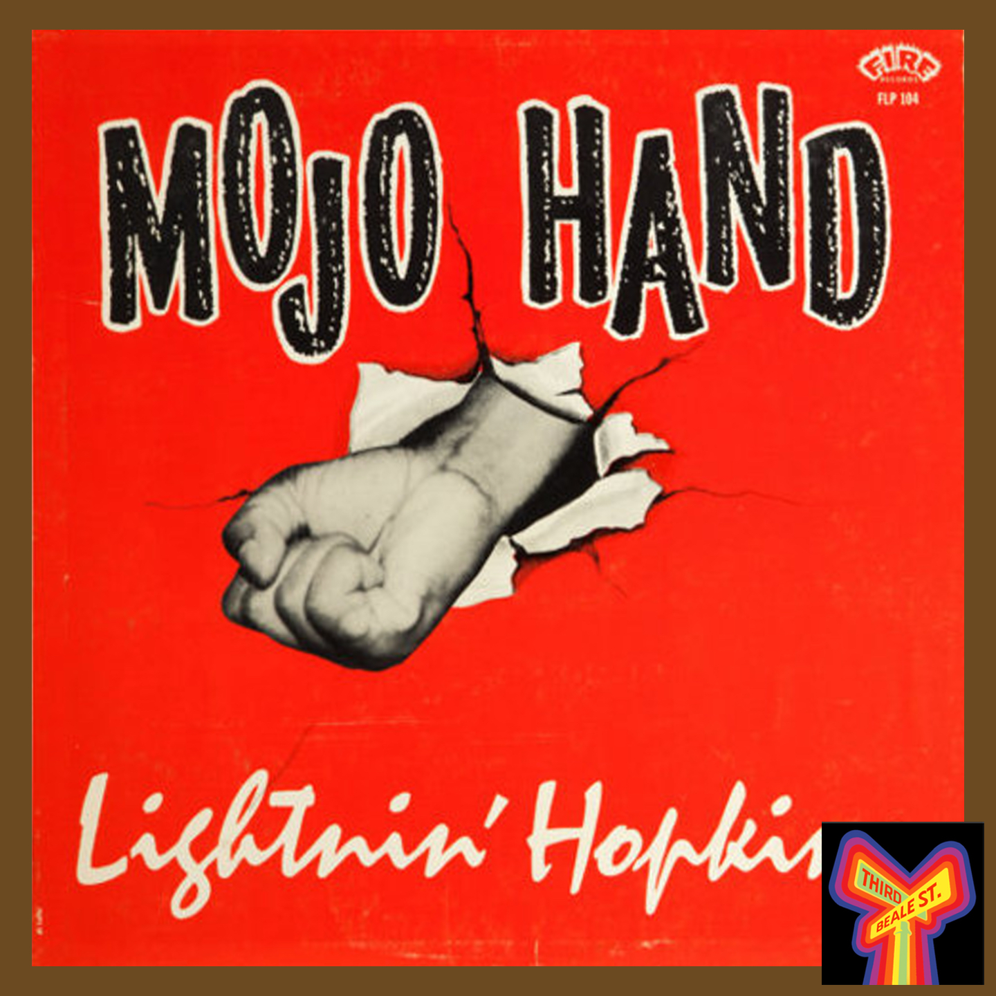 """Caption: A classic LP from Bobby Robinson's Fire label, """"Mojo Hand,"""" by Lightnin' Hopkins."""