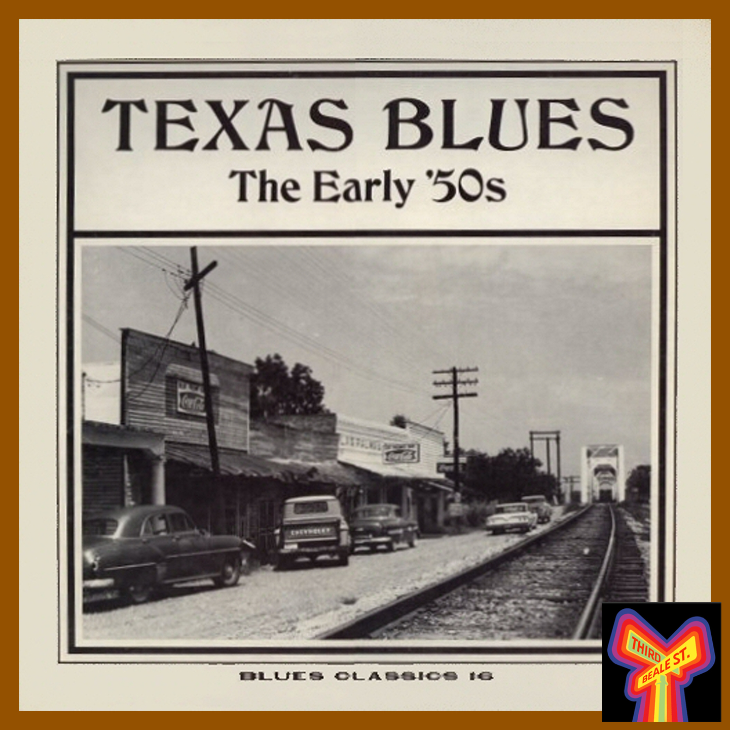 Caption: One of the distinctive covers from the Blues Classics series. Cover photo of Richmond, Texas by Chris Strachwitz.