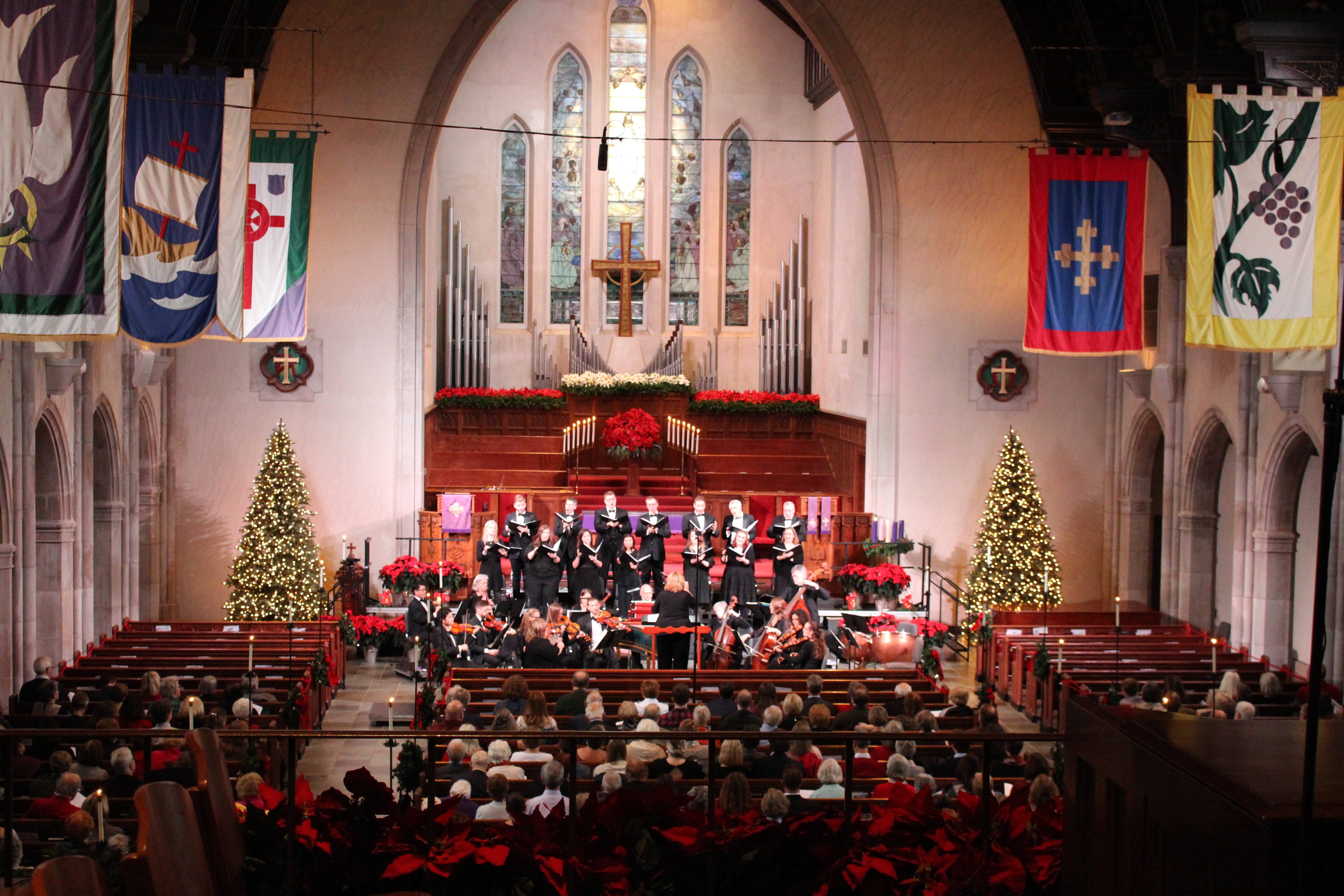Caption: Indianapolis Baroque Orchestra & Beecher Singers perform Messiah, Credit: Carol Baker