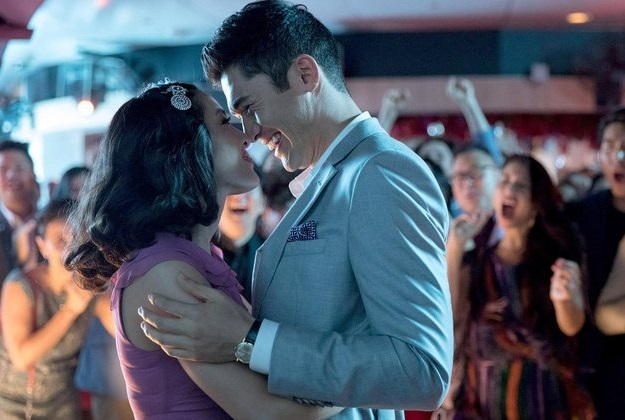 Caption: Constance Wu and Henry Golding in 'Crazy Rich Asians'