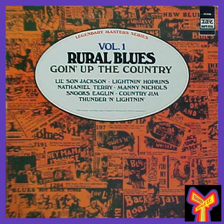 "Caption: The distinctive cover art for ""Rural Blues, Vol. 1."""