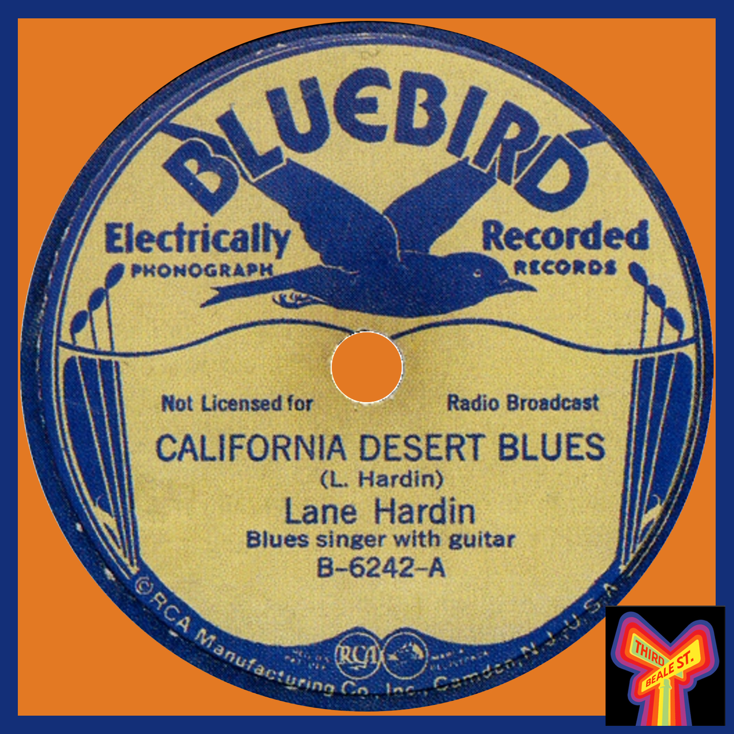 """Caption: """"California Desert Blues,"""" recorded 1935 by Lane Hardin, commemorates an experience many had during the Great Depression."""