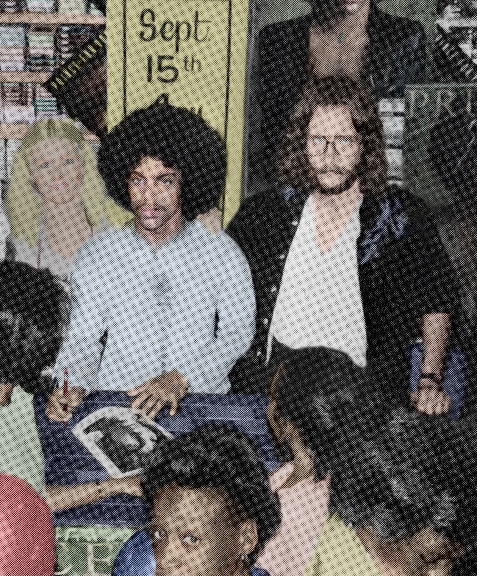 Caption: Prince and Owen Husney at a record store signing, circa 1978., Credit: Owen Husney