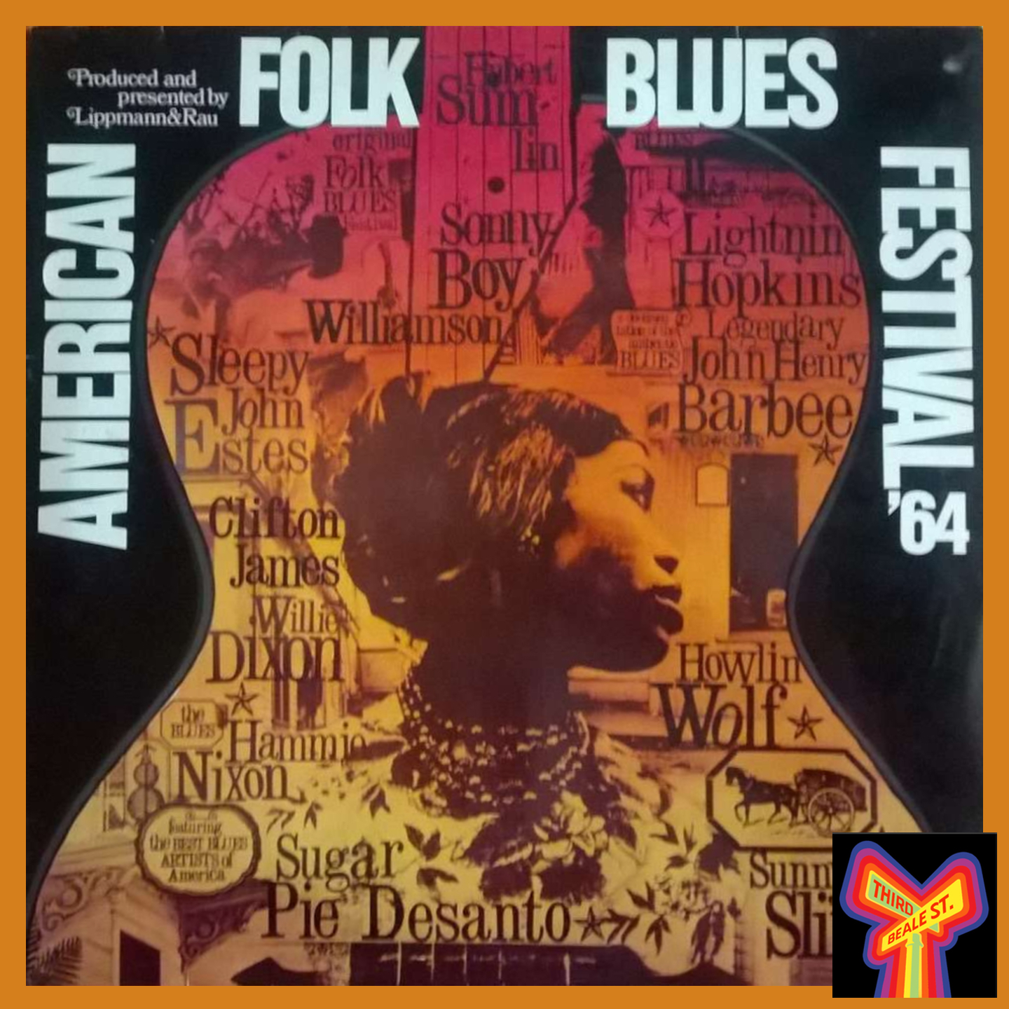 Caption: Some of the distinctive graphics from the American Folk Blues Festival tours, this one from 1964.