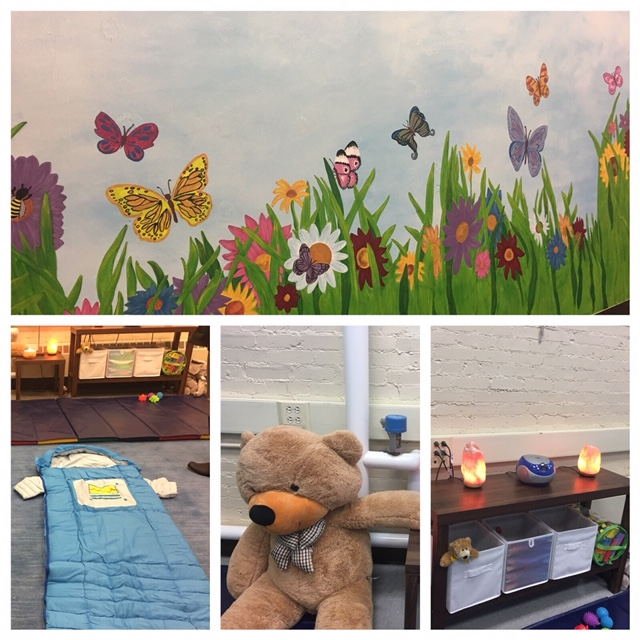 Caption: Inside a Calming Room at a Buffalo Public school., Credit: WBFO, Eileen Buckley